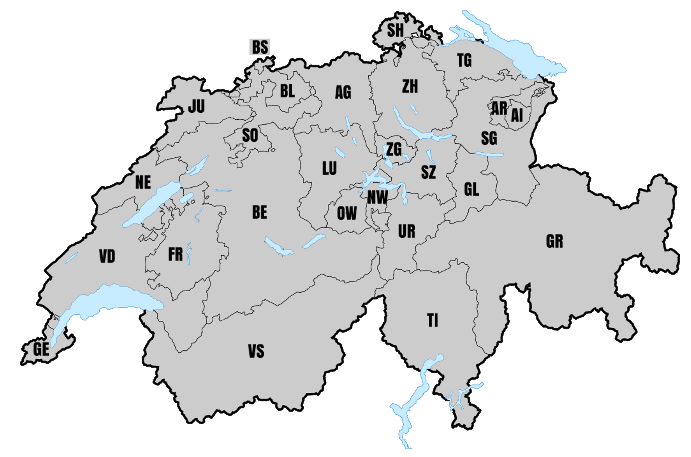 ÖKK bietet das Hausarztsystem in folgenden Kantonen an